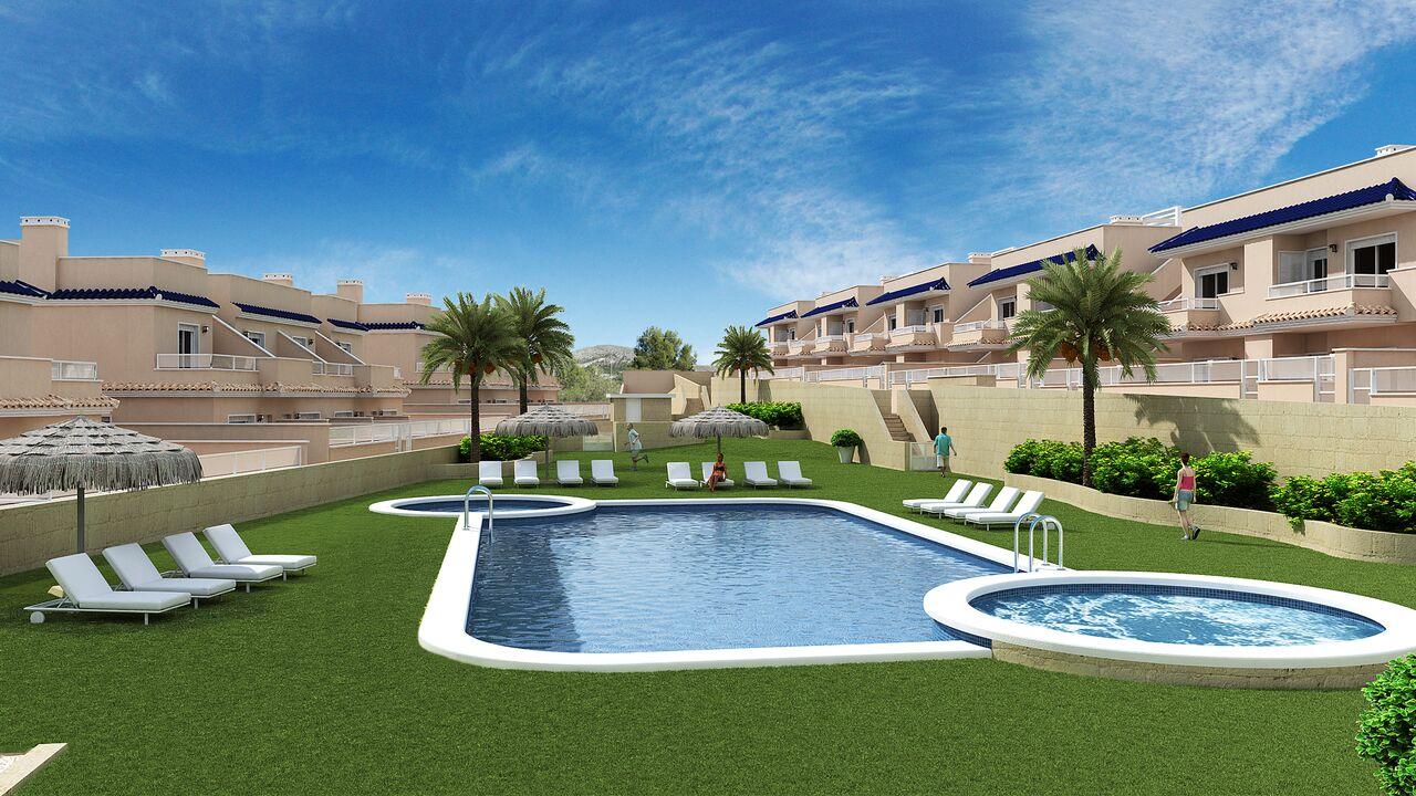Costa Blanca Süd – Neue Stadthäuser und Wohnungen nur 300m vom Strand