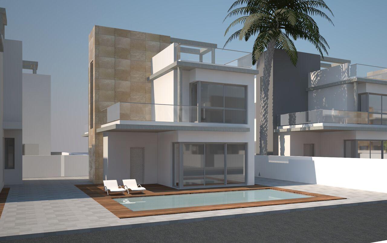 Torrevieja, neue freistehende Häuser mit Keller Nähe Habaneras und Carrefour Einkaufscentren