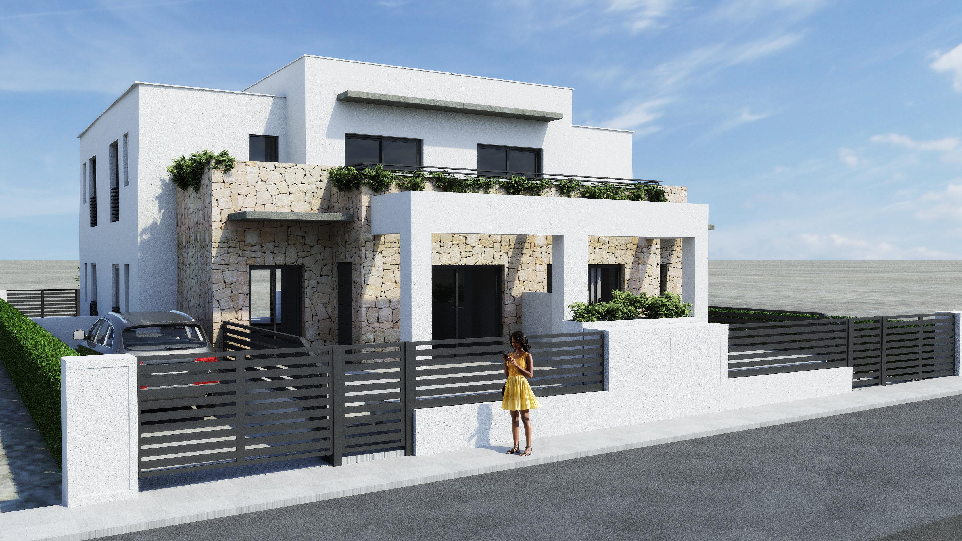 Spanien Costa Blanca Torrevieja – Neue Eckhäuser im modernen Stil ...