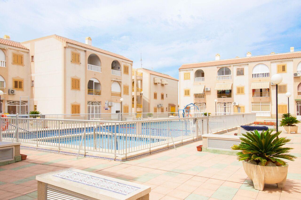 SPANIEN COSTA BLANCA Torrevieja-Playa del Acequión, Apartment Erdgeschoss, Gemeinschaftspool, Strandnähe