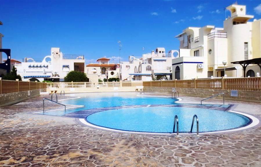 SPANIEN COSATA BLANCA – Torrevieja – La Mata, sonniges Eck-Reihenhaus , Gem.-Pool, nur 50 m vom Strand La Mata