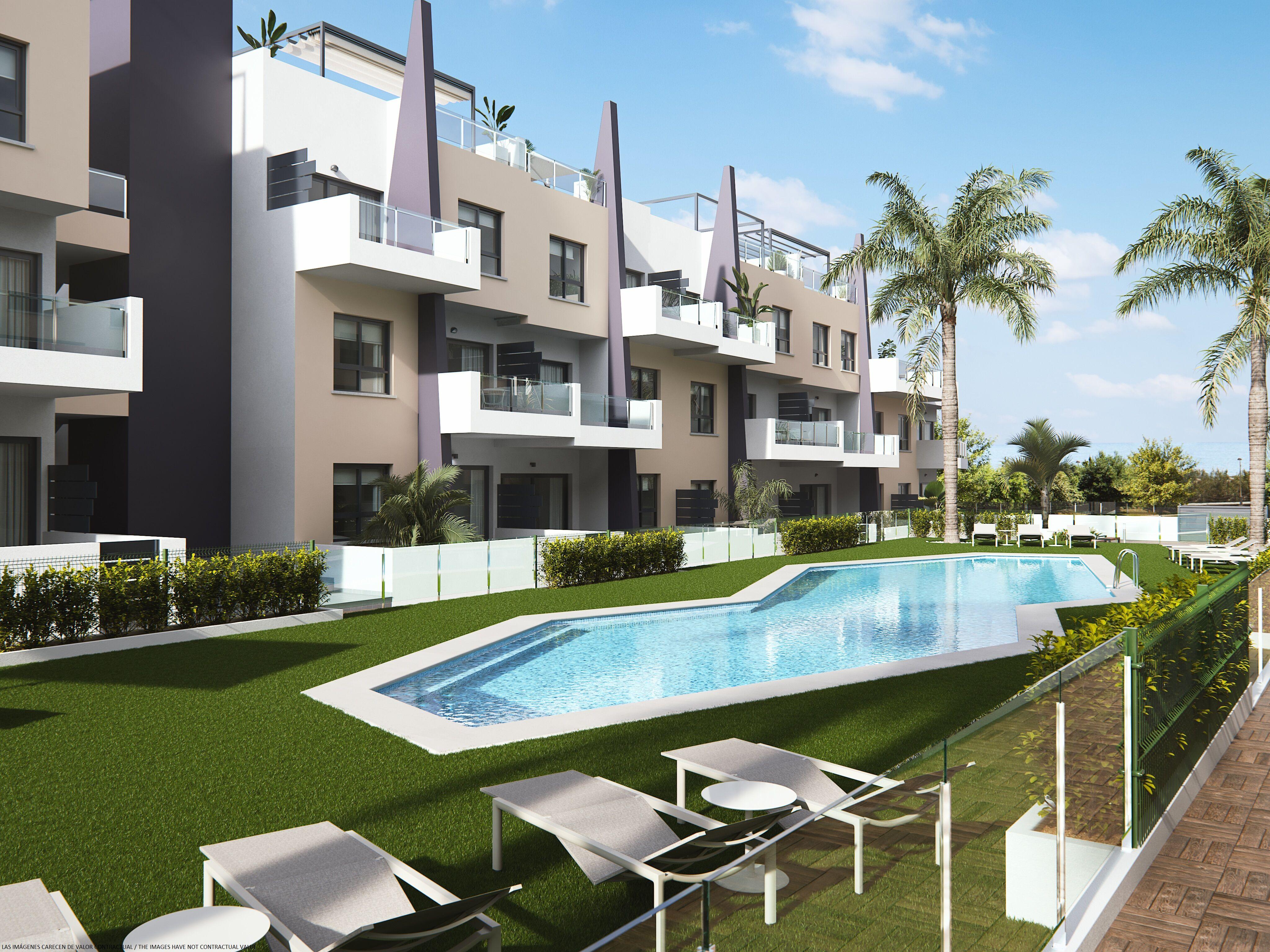 ESPAÑA COSTA BLANCA Torre de la Horadada – Playa (Mil Palmeras) Apartamento cerca de la playa