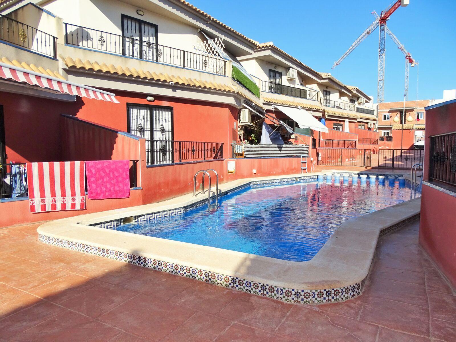 SPAIN COSTA BLANCA – TORREVIEJA, WONDERFUL TOWNHOUSE IN THE URBANISATION AGUAS NUEVAS