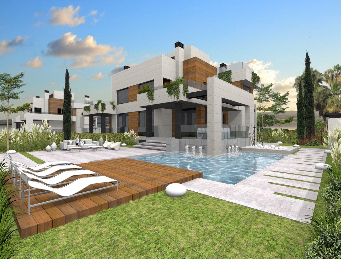 Spanien – Costa Blanca Süd – Moderne Luxusvilla mit privatem Pool und Keller, Nähe Zentrum Torrevieja