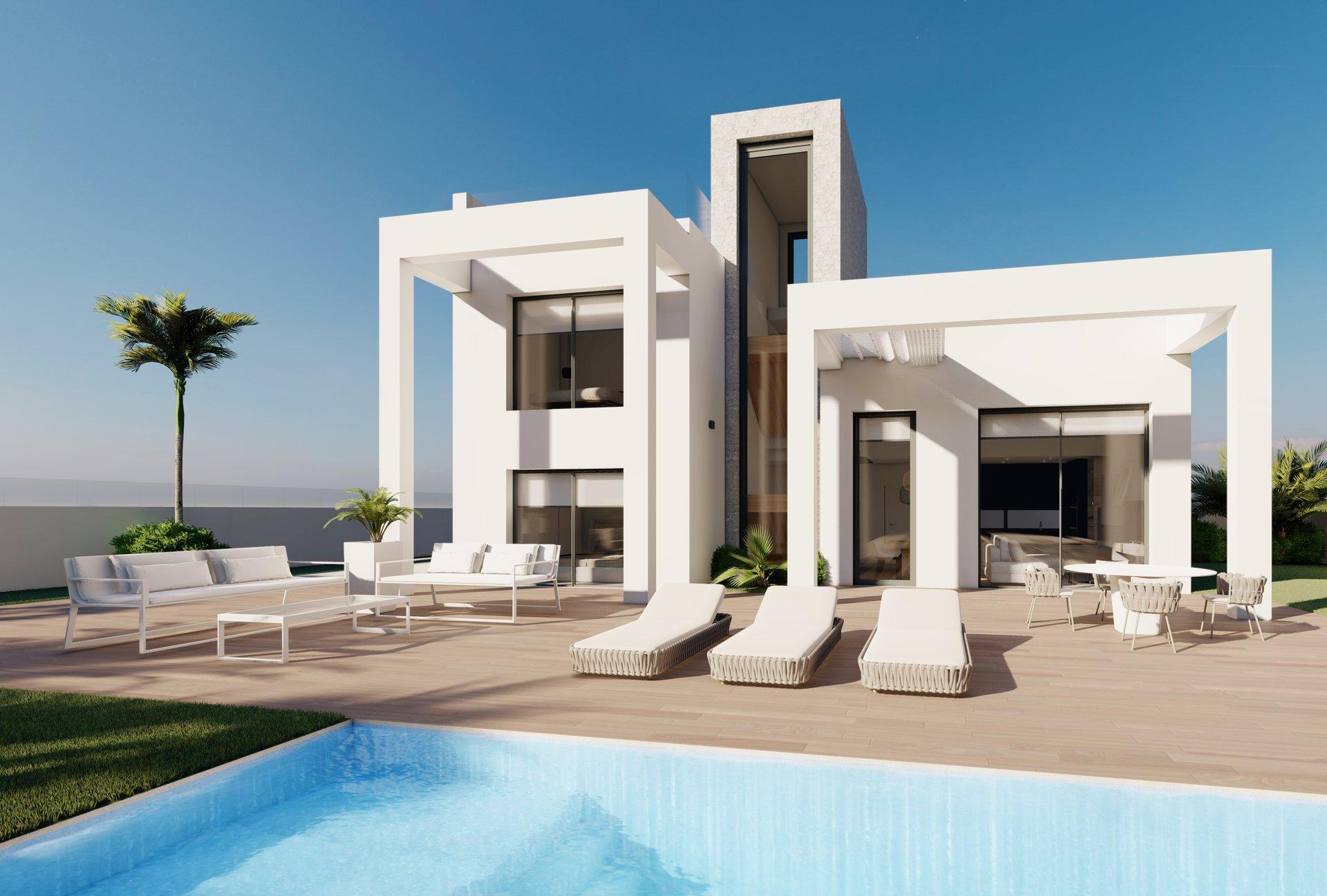 SPAIN COSTA BLANCA – Benidorm, luxury chalets with spectacular sea views