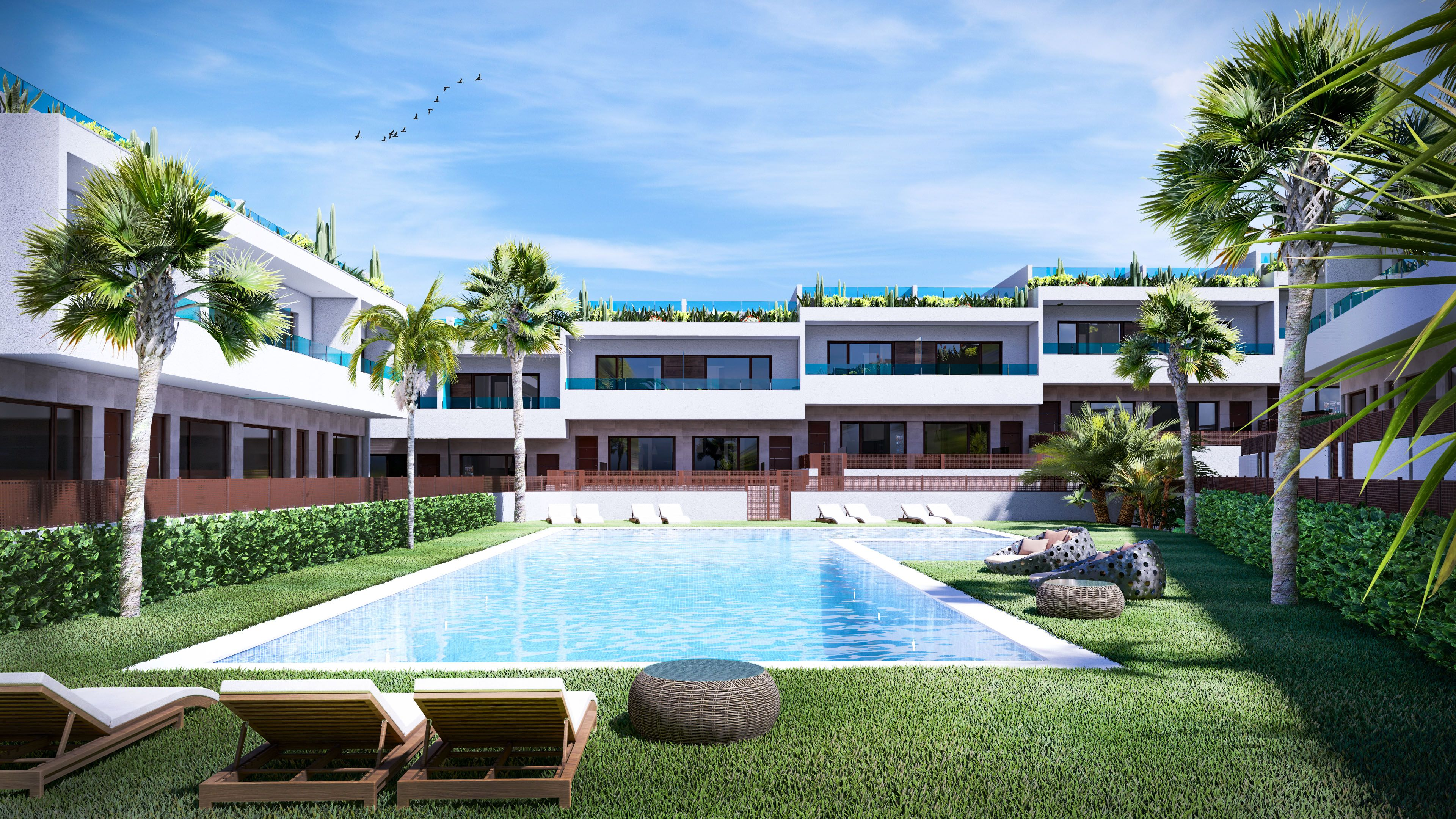 SPAIN COSTA BLANCA, Torrevieja – Los Balcones, new townhouses with sea and salt lake views